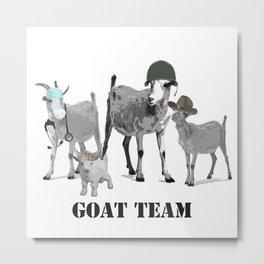 Goat Team Metal Print