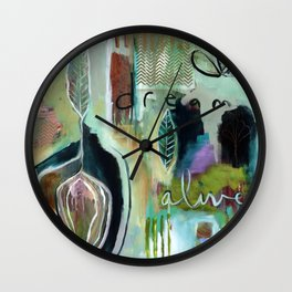 """Dream Alive"" Original Painting by Flora Bowley Wall Clock"