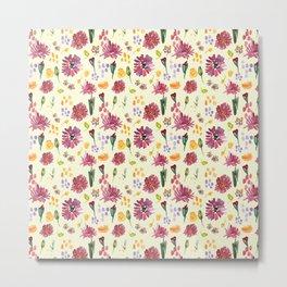 Botany floral pattern design (2) Metal Print