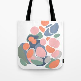 Abstract Shape Flower Art Tote Bag
