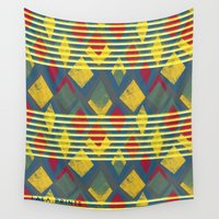 stripe Wall Tapestries featuring Kite Stripe by lalaprints