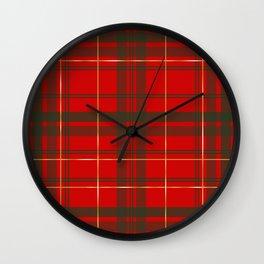 Christmas Tartan Wall Clock