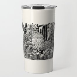 Vintage Illustration, Cactii Travel Mug