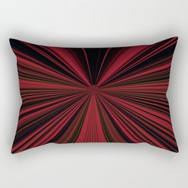 Red and Black Abstract Lines Rectangular Pillow