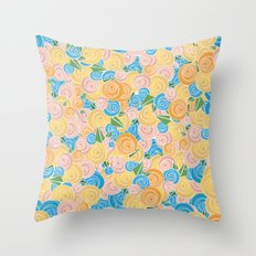 Pastel Floral Throw Pillow