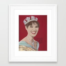 queen of fucking everything Framed Art Print