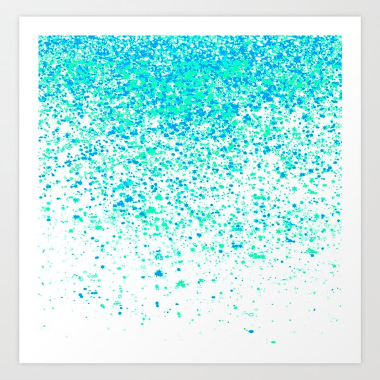 sparkling mint Art Print