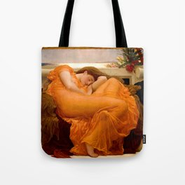 FLAMING JUNE - FREDERIC LEIGHTON (RESTORED) Tote Bag