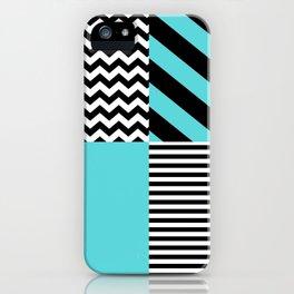 Blue B&W iPhone Case