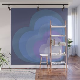 ELISE VIOLET - Mid Century Modern Abstract Pattern Graphic Design Wall Mural