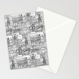 Edinburgh toile black white Stationery Cards