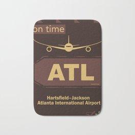 ATL Atlanta airport chocolate Bath Mat