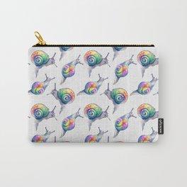Rainbow Crystal Clear Snails Carry-All Pouch