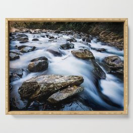 Take Me to the River - Rushing Rapids in the Great Smoky Mountains Serving Tray