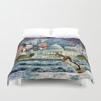 usa Duvet Covers featuring USA by TRASH RIOT