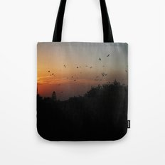 migrating birds Tote Bag