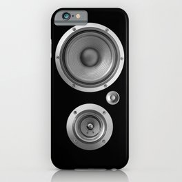 Subwoofer Speaker on black iPhone Case