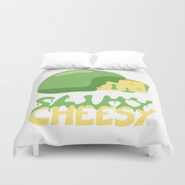 Slimy cheesy Duvet Cover