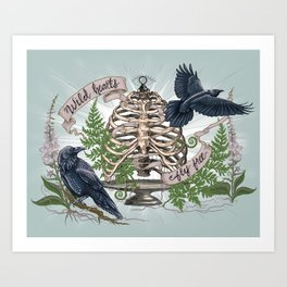 Wild Hearts Fly Free Art Print
