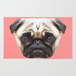 Pug // Pink Rug