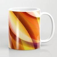 orange pattern Mugs featuring Pattern orange by Christine baessler