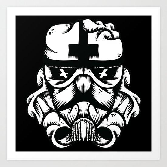 Satanic Trooper Art Print