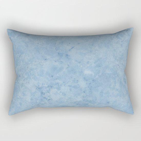 Lento blue marble Rectangular Pillow
