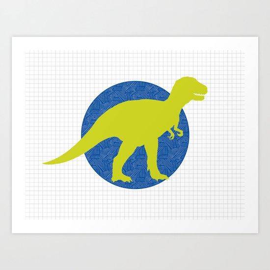 Modern Dinosaur T-rex Print Art Print