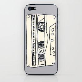 cassette schmassette iPhone Skin