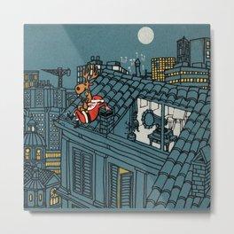 Santa Claus Relaxing Break Metal Print