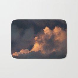 Storm Cloud Illuminated At Sunset Bath Mat