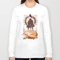 mulder Long Sleeve T-shirts featuring Fable of Mulder and Scully by tumblebuggie