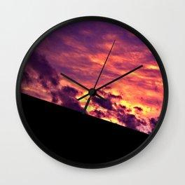 Saturated Sunrise Wall Clock