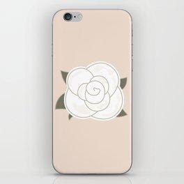 White vintage rose. Vector Illustration iPhone Skin