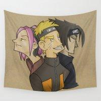 naruto Wall Tapestries featuring Naruto team 6 by Salva Laserna