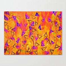 ANALOG zine - TECHNO VIBE 2 Collaboration Piece, Bold Colorful Abstract Watercolor Painting Music Canvas Print