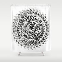 tribal Shower Curtains featuring Tribal by Bethany Mallick