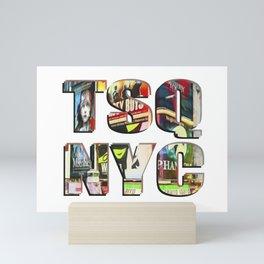 TSQ NYC, Times Square New York City lettering. Mini Art Print