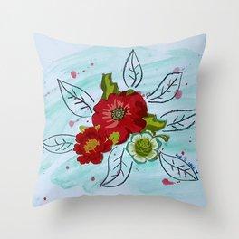 Roses VII Throw Pillow