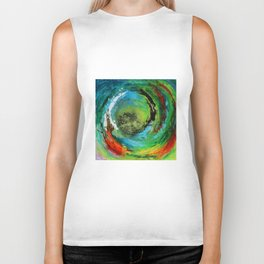 Maelstrom, captivating abstract painting Biker Tank
