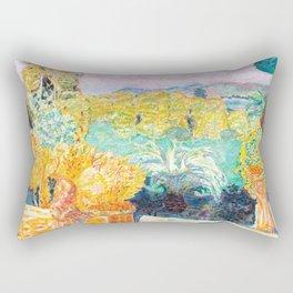 Pierre Bonnard - Paysage du Midi et deux Enfants - Landscape in Midi and two Children - Les Nabis Pa Rectangular Pillow