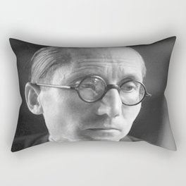 Rare Le Corbusier Potrait Rectangular Pillow