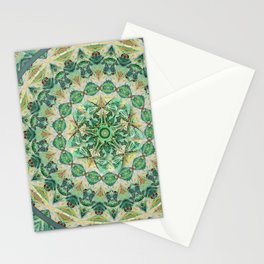 Luna Moth Meditation Mandala Stationery Cards
