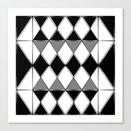Shiny diamonds in black and white. Geometric abstract. Canvas Print