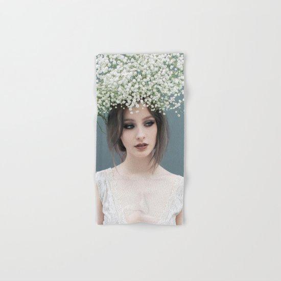 Floral portrait Hand & Bath Towel