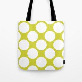 Polka Dots Green Tote Bag