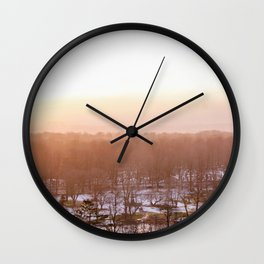 Foggy Halifax Morning Wall Clock