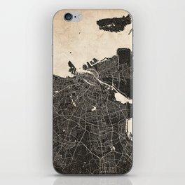 copenhagen map ink lines 2 iPhone Skin