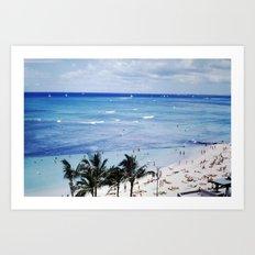 Mom & Dad's Hawaii Trip Slide No.3 Art Print