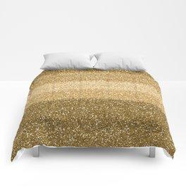 Glitter Glittery Copper Bronze Gold Comforters